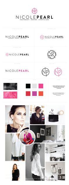 Brand Identity for Nicole Pearl of The Beauty Girl, personal branding, minimal design, graphic design, web design WordPress