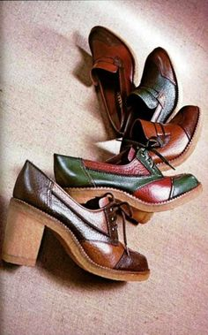 Those mid-70s shoes. I had the green and red pair. Fashion. Remembering the 70's.