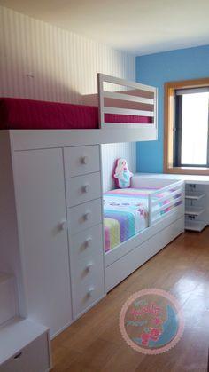 Bedroom Cupboard Designs, Teen Bedroom Designs, Bunk Bed Designs, Room Design Bedroom, Bunk Bed Rooms, Bunk Beds Built In, Kids Bed Design, Small Room Design, Bedroom Ideas For Small Rooms Cozy