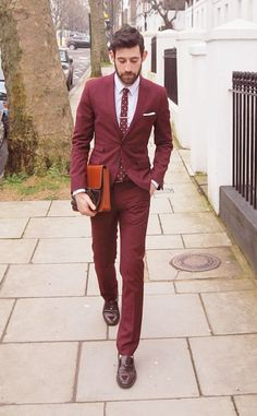 Understated burgundy