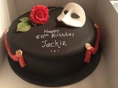 Phantom of the opera inspired cake 13 Birthday Cake, 17th Birthday, Birthday Ideas, Birthday Parties, Theme Ideas, Party Ideas, Opera Cake, Polka Dot Cakes, Phantom Of The Opera