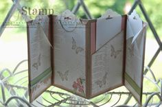 Mini Album using the Scallop Tag Topper punch from Stampin' Up! Visit my blog for lots more inspiration!