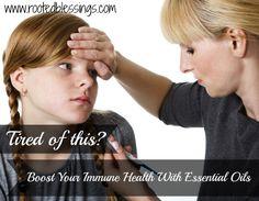 Immune boosting essential oils for winter sicknesses #oilyfamilies