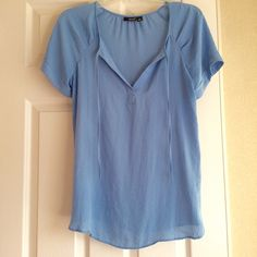 SALE!  A.N.A. Tunic Very cute blue tunic. Size Medium. Worn just once or twice. 100% Polyester a.n.a Tops Tunics
