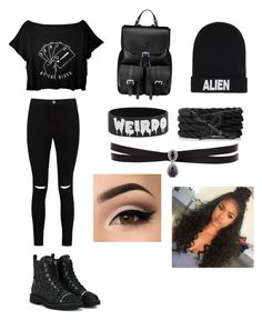 An outfit my sister would wear by jaeee16 on Polyvore featuring polyvore, fashion, style, Boohoo, Giuseppe Zanotti, Aspinal of London, Fallon, Nicopanda and clothing