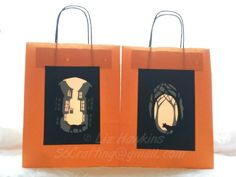 Halloween Lantern bags using X-Cut build a scene dies - S6 Crafting