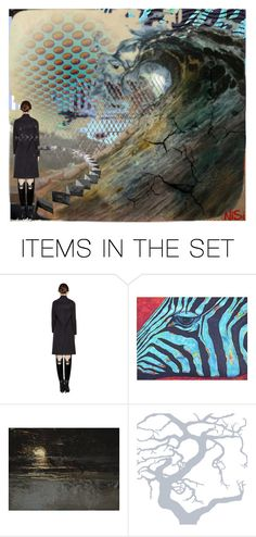 """""""WAVE"""" by gem-aqleo ❤ liked on Polyvore featuring art"""