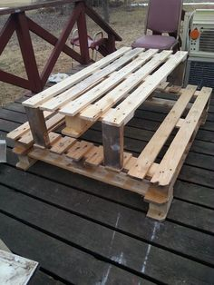 DIY Pallet Picnic Table for Kids | 101 Pallets