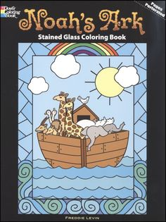 Noah's Ark Stained Glass Window | Noahs Ark Stained Glass Coloring Book (012197) Details - Rainbow ...