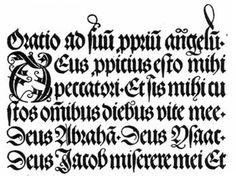 Alfabeto con letras góticas