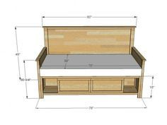 I want to make this!  DIY Furniture Plan from Ana-White.com  Part of the Hailey Bedroom Collection, this daybed is a simple modification of the Hailey Twin Storage bed, and features front only storage compartments.