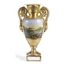 a russian porcelain vase, Batenin, circa 1835 | lot | Sotheby's