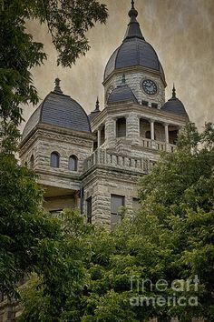 Denton County Courthouse in Denton TX USA. To view or purchase my prints, visit joan-carroll.artistwebsites.com iPhone covers can be purchased at joan-carroll.pixels.com THANKS!