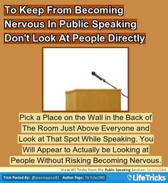 Public Speaking - Reduce Nervous Feelings When Public Speaking #publicspeaking