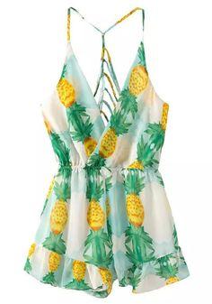 Pineapple Summer Romper