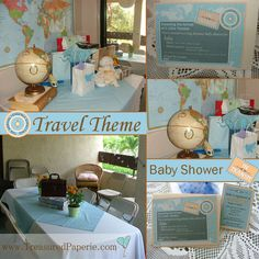 Baby Shower Travel Theme