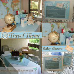 Baby Shower Decor   Travel Theme | Parties U0026 Showers | Pinterest | Travel  Themes
