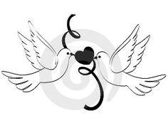 wedding doves clipart   Doves of love
