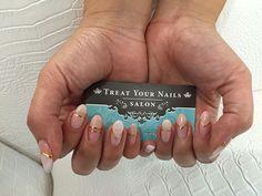 Gel Polish Nail Design on Real Nails #nailsalon #Atlanta #manicure