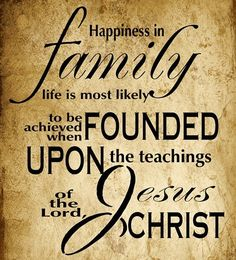 The family http://lds.org/family/proclamation is ordained of God and marriage is essential to His eternal plan. Happiness in family life is most likely to be achieved when founded upon the teachings of the Lord Jesus Christ http://facebook.com/173301249409767. Learn more http://facebook.com/FamilyProclamation LIKE and SHARE if you agree.