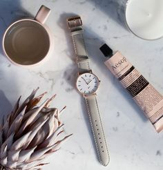 The Classic Watch - Rose Gold / Grey Leather