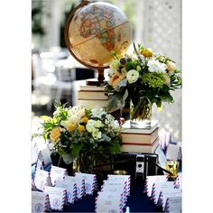 Suitcases, Maps and Globes… Weddings Inspired by Travel | Inspired by This Blog found on Polyvore