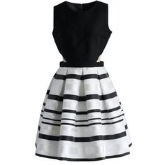 Chicwish Fancy Stripes Cutout Dress