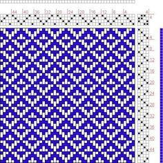 Weaving Textiles, Weaving Patterns, Tile Patterns, Knit Patterns, Loom Yarn, Loom Weaving, Hand Weaving, Weaving Projects, Fair Isle Knitting