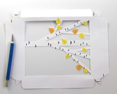 DIY: Printable Birch Shadow Box - A Piece Of Rainbow