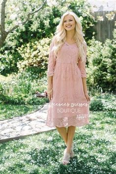 Our Best Seller! Day Dreamer Lace Dress in Mauve