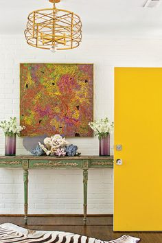 The Entryway - Stylish North Carolina Rancher - Southernliving. A bold front door, in Pratt