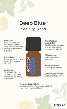 Blue Tansy Essential Oil, Turmeric Essential Oil, Essential Oils Guide, Essential Oil Bottles, Essential Oil Uses, Essential Oil Diffuser, Doterra Blends, Doterra Essential Oils, Doterra Deep Blue