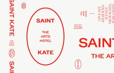 Brand New: New Logo and Identity for Saint Kate Arts Hotel by One Design Company – Pin's Page Web Design, Logo Design, Typography Design, Print Design, St Kates, Hotel Logo, Hotel Branding, Branding Ideas, Logo Samples