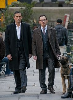 Reese and Finch + Bear.... can someone please fix their trousers? Too long and hangs funny!