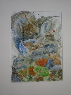 WaterWorld, encaustic op papier, 20x28, 1998