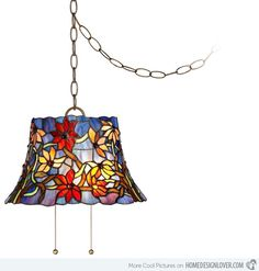 15 Unique Design of Stained Glass Chandelier 4