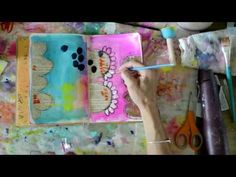 Mixed Media Art Journal Page by Rae Missigman - YouTube