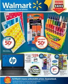 Walmart Ad Sneak Peek For 7/13/2014-7/19/2014  Some Walmart store ads may differ from others so be sure to change the settings for your local store.