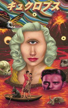 Alex Gross / Purgatory / Oil on Panel   34.5'' x 22''   2011 #SurrealismoPop