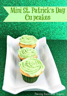 St. Patrick's Day Desserts. Mini St. Patrick's Day Cupcakes. The Flying Couponer…