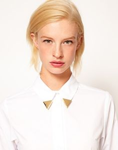 Enlarge ASOS Smooth Triangle Collar Tips