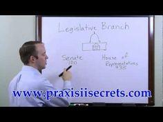 ▶ Praxis II Social Studies The Legislative Branch - YouTube