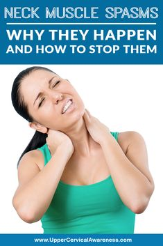 """Neck Muscle Spasms: Why They Happen and How to Stop Them """"Muscle spasms can happen anywhere in the body, but when they occur in your neck, it can cause intense neck pain and a loss in your normal range of motion. The pain of neck spasms can range"""" Muscle Spasms In Neck, Neck Spasms, Neck Cramp, Muscle Pain Relief, Neck Pain Relief, Upper Cervical Chiropractic, Neck And Shoulder Muscles, Muscle Tissue, Sore Muscles"""