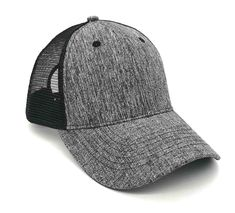 dc70c56eec9d9 Heathered trucker caps accompany the entire summer to be cool. Hotsch Caps  take care about