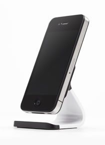Milo iPhone stand - uses suction to hold your phone. This would be great for my desk!