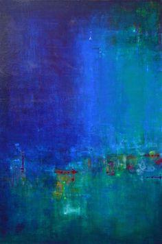 """Ana Elisa Benavent; Acrylic, 2013, Painting """"Talking With Myself"""""""