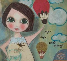 Up up and away, lovely art print. #art #print