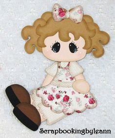 Vintage Shabby Chic girl paper piecing on Ebay ♥