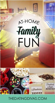 15 fun ideas for an at-home family night. I love every single one of these! www.TheDatingDivas.com