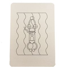 Carte postale à colorier plongeur collection Monde Wistiworld | Baby Prestige
